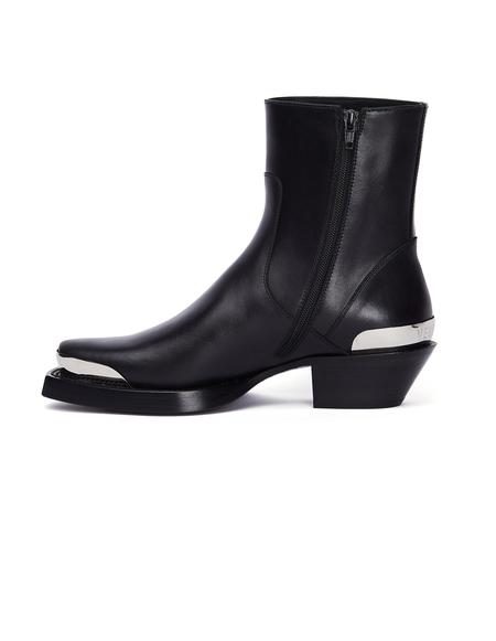 Vetements Leather Cowboy Boots - Black