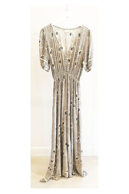 Natalie Martin Laurie Maxi Dress - Vintage Silver Flowers