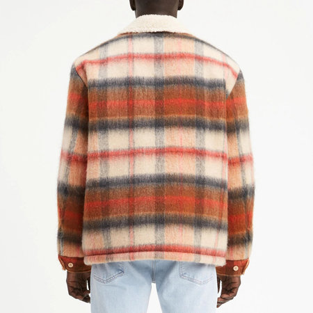Levi's Made & Crafted Sherpa Ranch Coat - Temescal Leather Brown Plaid