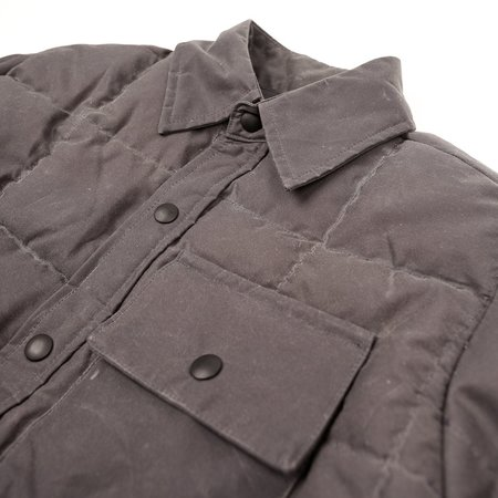 Crescent Down Works Down Shirt - Wax Charcoal
