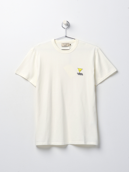 Maison Kitsune TEE-SHIRT SMILEY FOX PATCH - WHITE