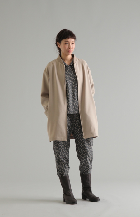 PLAINLESS REINDEER PRINTED JERSEY PANTS
