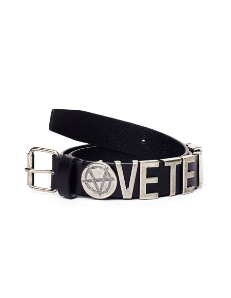 Vetements Leather Logo Belt - Black