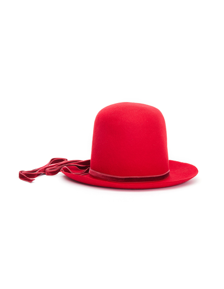 Ann Demeulemeester Wool Ambra Hat - Red