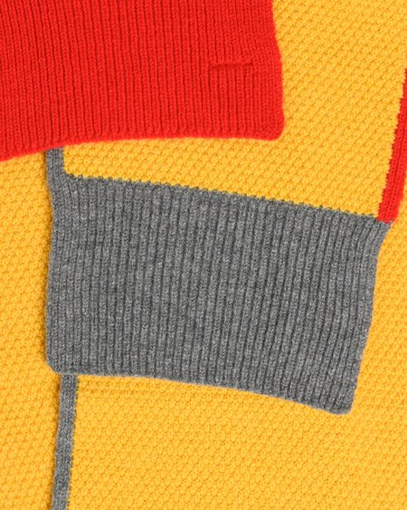 Country of Origin Honeycomb Lambswool Scarf