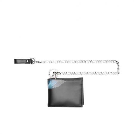 MARCELO BURLON Wings wallet chain - Black