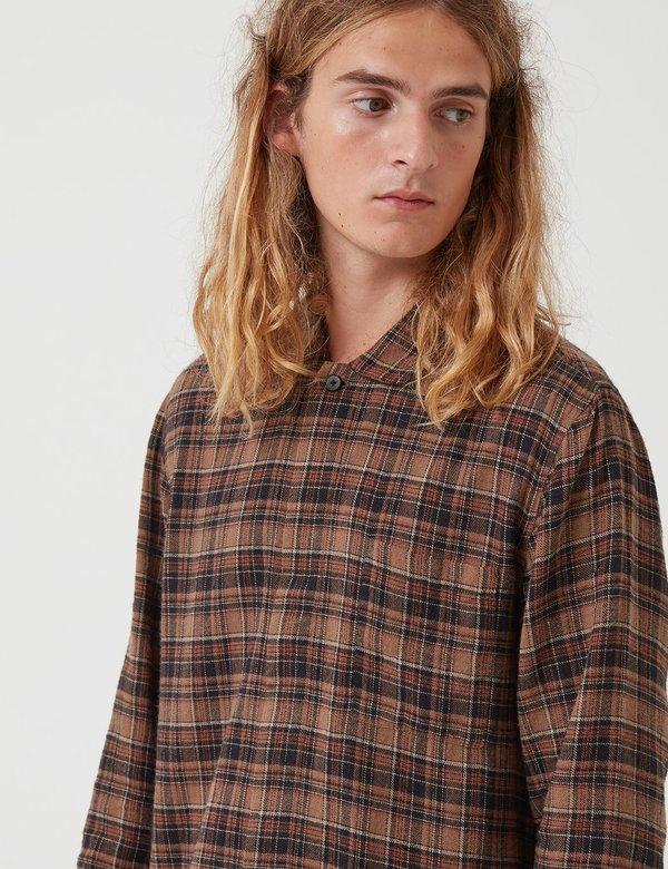 Folk Clothing Patch Shirt - Brown Multi