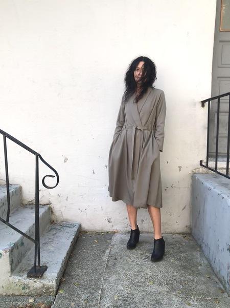 Black Crane Classy Wrap Dress/Jacket - Gray