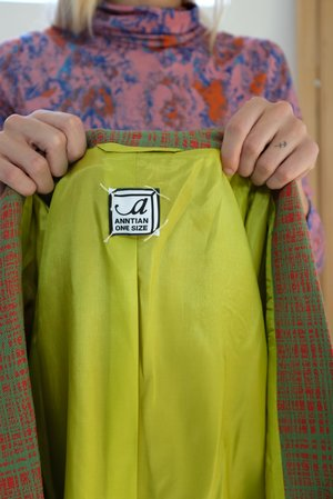 Anntian Binder Jacket - Red/Green Weave