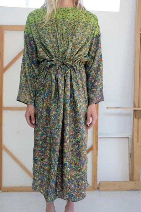 Anntian Silk Simple Dress - Print H