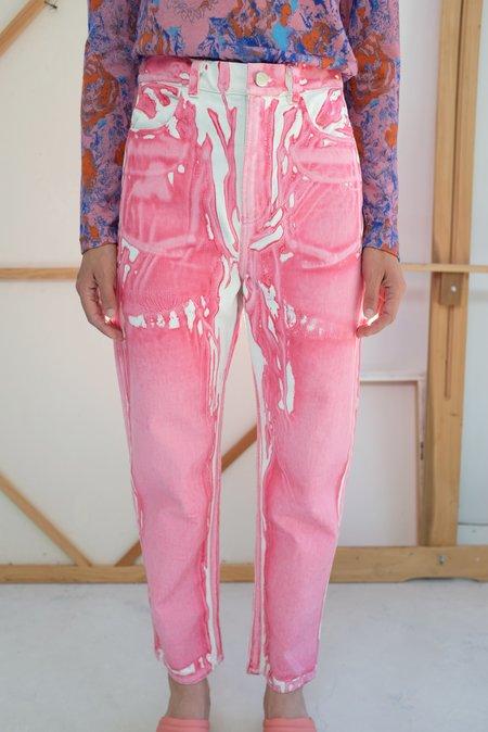 Anntian Screenprint A Pant - pink