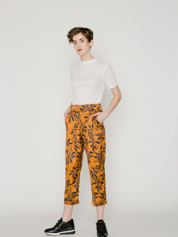 Allison Wonderland Palmer Pant - Copper Floral