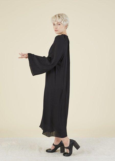 VOZ Bell Sleeve Silk Dress - Black