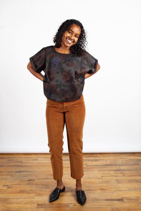 Sara Duke Your Favourite Shirt Crop Top - Floral