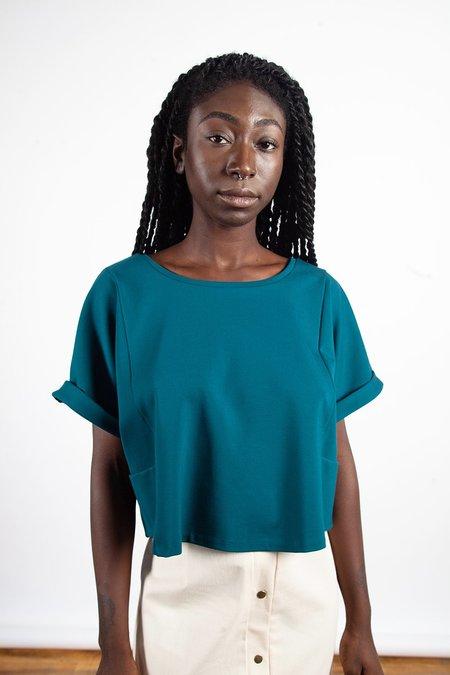 Sara Duke Your Favourite Shirt Crop - Forest Green
