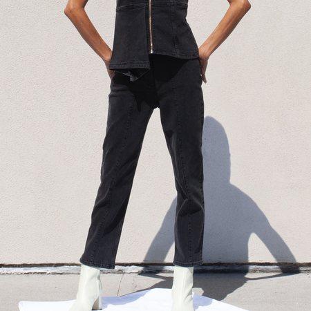 Aalto Stretch Crop Denim Pant - Black