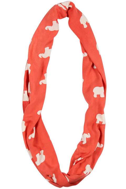 Symbology Marching Elephants Infinity Scarf