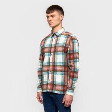 RVLT peter longsleeved flannel check shirt - off white