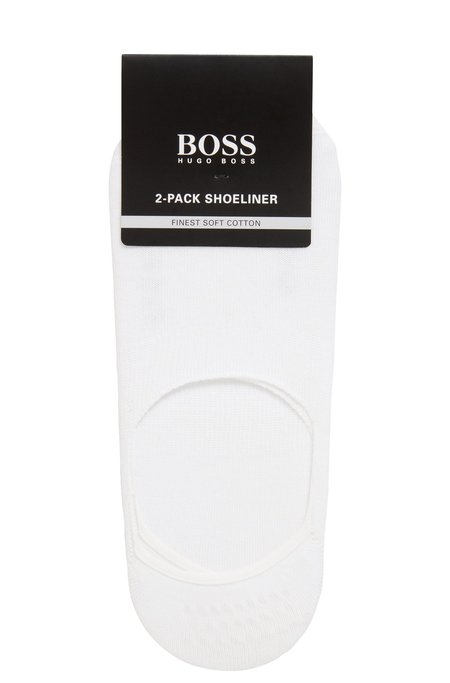Hugo Boss Lining Logo Socks - White