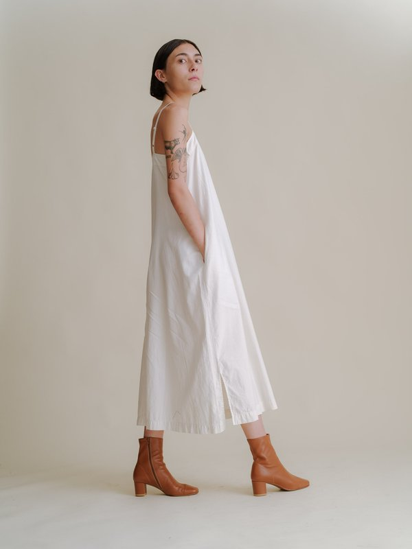 Ali Golden Square Dress - Bone