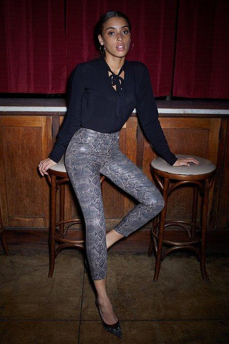 J Brand Lillie High Rise Skinny Coated Jean - Boa