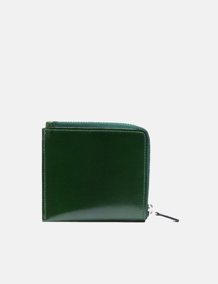 Il Bussetto Small Zip Wallet - Forest Green