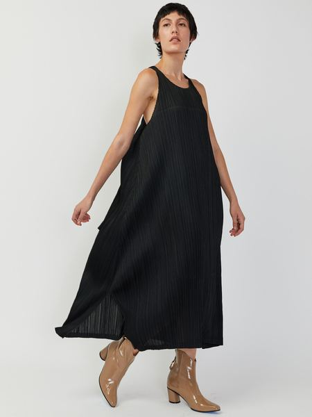 Issey Miyake Tie Back Dress - Black