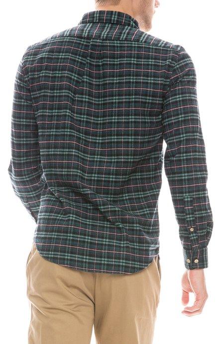 Portuguese Flannel Future Check Plaid Shirt - Green/Pink