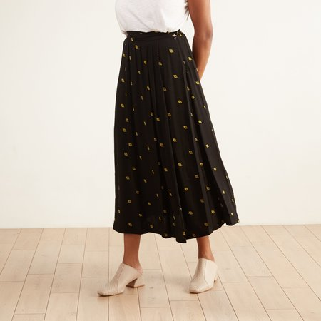 Bibliothéque Pleated Midi Skirt - Black