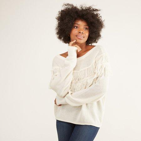 Nation Ltd Kiki Fringed Sweater - Creme