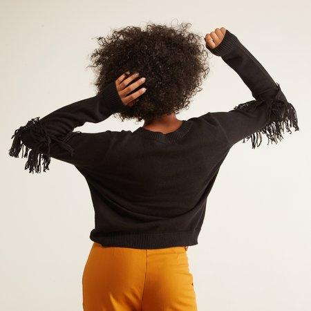 Nation LTD Ysabel Fringed Sweater - Black