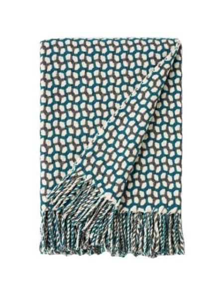 Burel GATHERING THROW - DARK GREY/TEAL