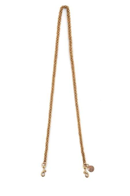 Clare V. Circle Chain Crossbody Strap - Brass