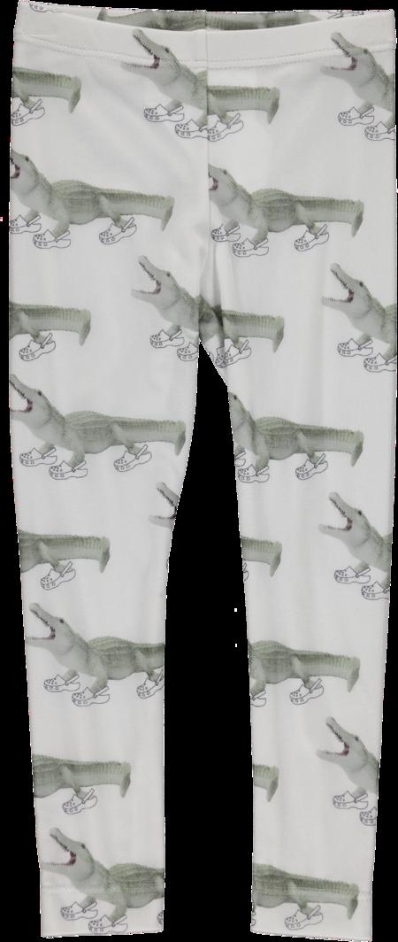 Kids Caroline Bosmans Croc(O) Printed Leggings - White