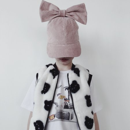 Kids Caroline Bosmans Faux Fur Teddy Vest - White