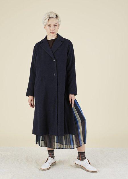 Yoshi Kondo Commuter Wool Coat - Navy