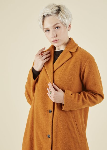 Yoshi Kondo Commuter Wool Coat - orange