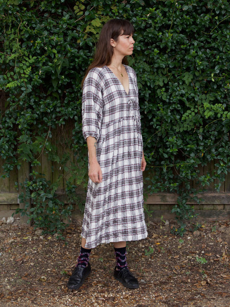 Hansel from Basel Grace Dress - Grey Plaid