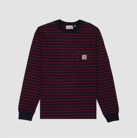 CARHARTT WIP Longsleeve Haldon Pocket T-Shirt - Dark Navy