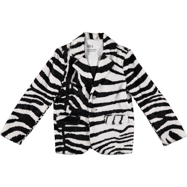 KIDS caroline bosmans faux zebra hairy blazer