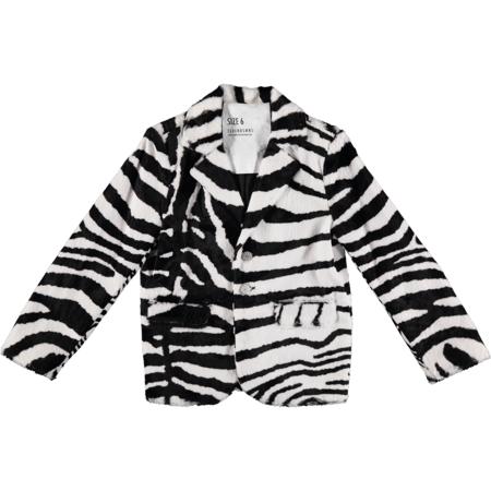 Kids aroline Bosmans Faux Hairy Blazer - Zebra