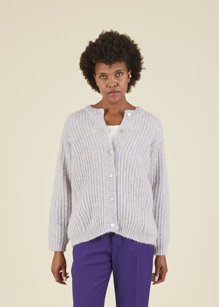 Hansel from Basel Molly Knit Cardigan - Heather Lilac