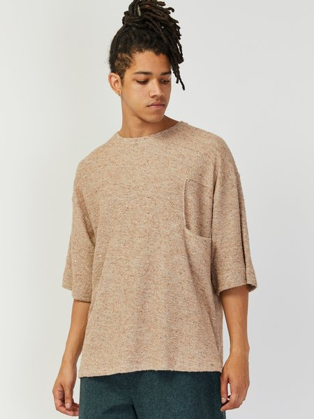 House of the Very Islands Income Knit Sweater Tee - Beige