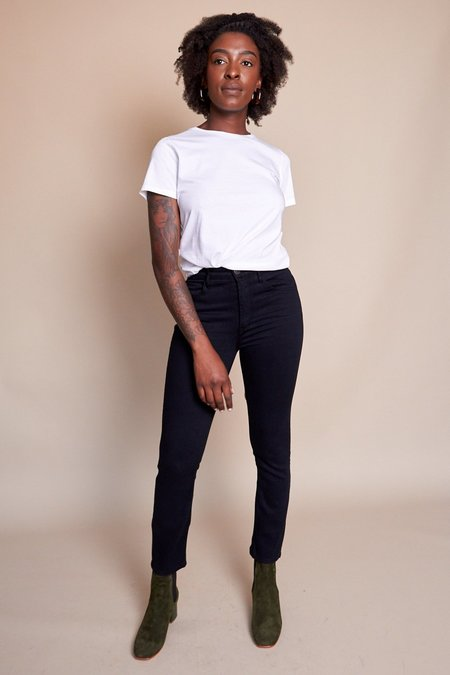3x1 W4 Colette Slim Crop Jean - Tar Black