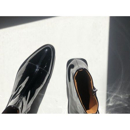 Clergerie Xaviere Patent Leather Boots - black