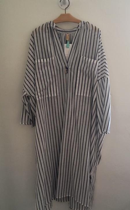 TWO 2 PKT Stripe Dress - natural