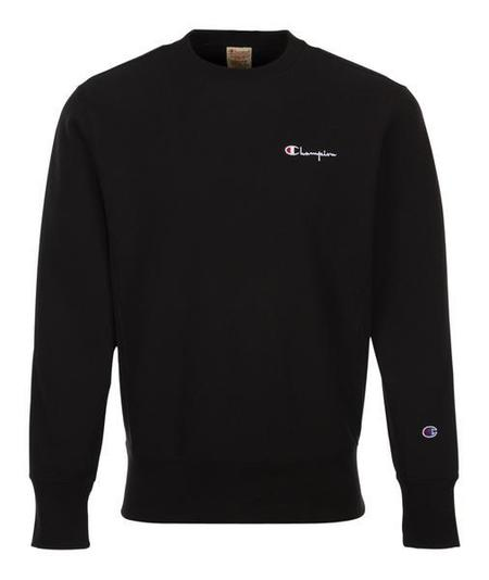 Champion Small Script Crewneck Sweatshirt - Black