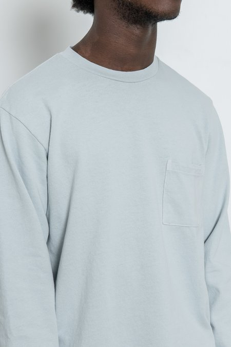 Paa Long Sleeve Pocket Tee - Ice Grey