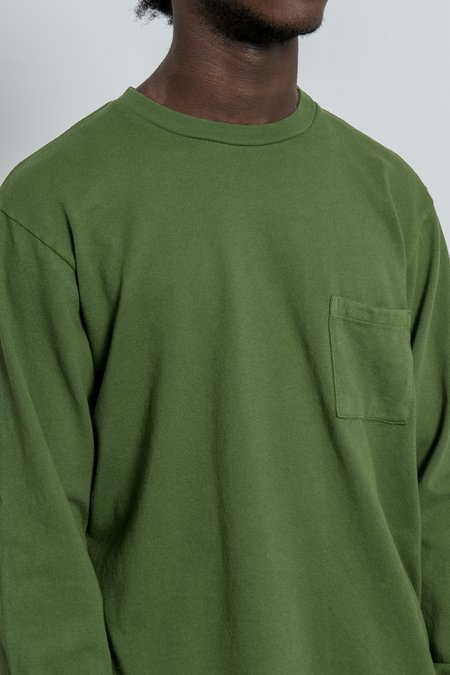 Paa Long Sleeve Pocket Tee - Moss