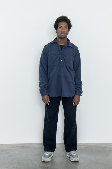 Paa Long Sleeve Polar Fleece Popover Shirt - Navy